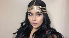$18.00  ETSY  SEVEN strand Goddess Celebrity bohemian gold coin 7 by SoVein