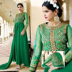 #anarkali #anarkalisuit #anarkalis #dress #green #pants #embroidery #shaadi #wedding #weddingwear #asian #asianbride #uk #london #usa #canada #saudi #uae #eid #love #lovely #beautiful #awesome #followme #paypal #fashion #makeupartist #henna TO BOOK YOUR ORDER CALL OR WHATSAPP ON +919833033545 / +918655496377 www.silverdesignerstudio.com Item Name AAFREEN ADAA ALINA ROYAL GEORGETTE SUIT AND Item Code LEO10704 Descriptions TOP Royal Georgette INNER Santoon BOTTOM Santoon DUPATTA ...