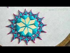 motif with mirror work (Hindi/Urdu) Embroidery Neck Designs, Hand Embroidery Videos, Hand Embroidery Flowers, Embroidery Stitches Tutorial, Hand Work Embroidery, Hand Embroidery Stitches, Diy Embroidery, Embroidery Techniques, Mirror Work Blouse Design