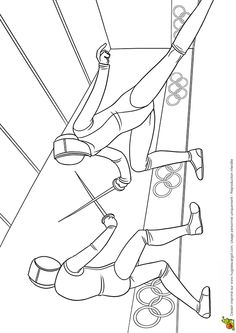 Coloriage jeux olympiques : escrime Hugolescargot.com - Hugolescargot.com Sports Coloring Pages, Colouring Pages, Printable Coloring Pages, Coloring Pages For Kids, Coloring Sheets, Kids Olympics, Tokyo Olympics, Around The World Crafts For Kids, Olympic Games For Kids