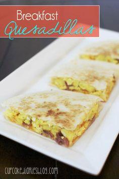 Breakfast Quesadillas | cupcakediariesblog.com
