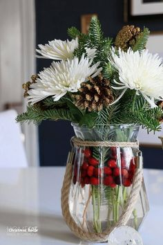 Exceptional Christmas time tips are available on our internet site. : Exceptional Christmas time tips are available on our internet site. Christmas Flowers, Noel Christmas, Winter Christmas, Christmas Crafts, Christmas Tablescapes, Outdoor Christmas Decorations, Christmas Centerpieces For Table, Christmas Trends, Christmas Arrangements