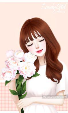 Girl Face Drawing, Cute Girl Drawing, Cute Drawings, Cute Kawaii Girl, Cute Cartoon Girl, Beautiful Fantasy Art, Beautiful Anime Girl, Gif Lindos, Big Eyes Artist