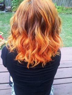 Orange ombre: this is what my hair almost looks like now- minus the orange
