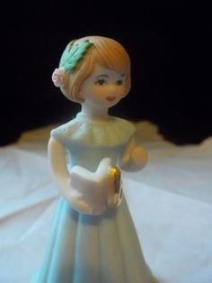 Vintage Enesco Growing Up Birthday Girl by TheHoneysuckleTree, $7.00