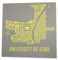 University of Iowa neighborhoods by Ork Posters