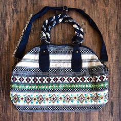 I just discovered this while shopping on Poshmark: WEEKENDER BAG Patterned Bohemian Large ShoulderBoutique. Check it out!  Size: OS
