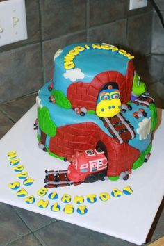 Chuggington Cake by Amy Hart SweetHart Cakes by Amy Hart