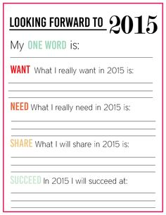 Updated Printable New Years Resolution for You