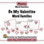 """Your students will love practicing word families with this sweet Make, Take & Teach """"Be My Valentine"""" word family activity.  When you download .."""