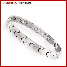 8 1/2` TITANIUM HEALTH THERAPY WATCHBAND BRACELET B1116 Black Diamond, Diamond Rings, The Ch, Best Jewelry Stores, Watch Bands, Therapy, Fashion Jewelry, Bracelets, Health