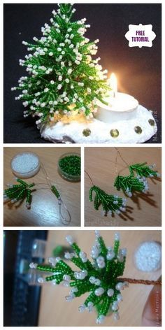 Diy christmas tree 734227545484365184 - DIY Mini Bead Christmas Tree Candle Holder Tutorial Source by maraauroraponcearroe Beaded Christmas Decorations, Christmas Tree Candle Holder, Beaded Christmas Ornaments, Christmas Candles, Christmas Crafts, White Christmas, Nordic Christmas, Modern Christmas, Xmas