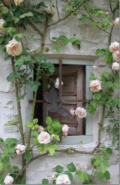 I love this, but I would have to replace a window somewhere, so it looked like this.