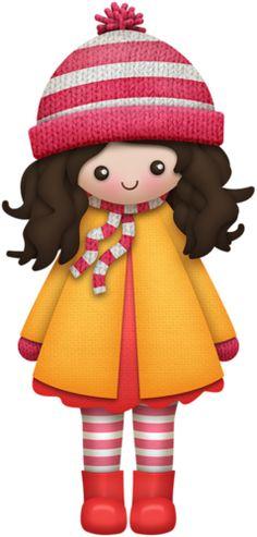 "Photo from album ""HelloFall -"" on Yandex. Winter Clipart, Clip Art Pictures, Girl Clipart, Fall Is Here, Girls World, Hello Spring, Paper Dolls, Winter Wonderland, Art Girl"