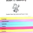 Bloom's Taxonomy questioning flip chart pages include a page for each original Bloom's level.  Each page has Question Stems, Possible Products, and...