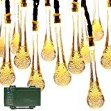 Lalapao Battery Operated Optional Automatic Timer String Lights 30 LED Water Drop Fairy Christmas Lighting Decor... christmas deals week