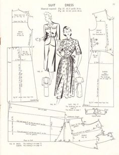 Vintage 1940s pattern drafting booklet Haslam by glassoffashion