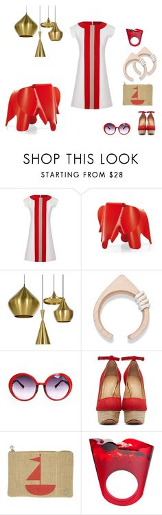 """Pattu"" by southernreef ❤ liked on Polyvore featuring Jonathan Saunders, Charles and Ray Eames, Tom Dixon, Saloukee, Charlotte Olympia, Jonathan Adler and Pasionae"