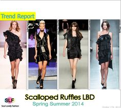 Scalloped Ruffles Little Black #Dress #LBD #FashionTrend for Spring Summer 2014 #fashiontrends2014 #spring2014 #trends #ruffles