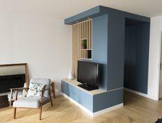 Meuble d'entrée réalisé sur la base de IKEA PLATSA et Filtre bois en CP Bouleau - réalisation Colardelle