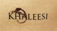 Khaleesi GOT  Game of Thrones Temporary Tattoo by TattooMint, $3.99 #GOT #gameofthrones