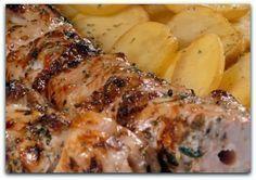Greek Recipes, Pork Recipes, Cooking Recipes, Healthy Recipes, Pork Dishes, Tasty Dishes, Food Network Recipes, Food Processor Recipes, Greek Cooking