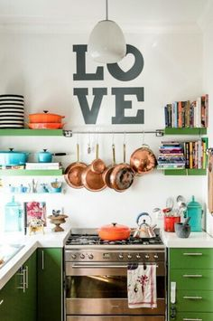 Add some green to your kitchen.