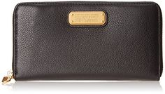 Marc by Marc Jacobs New Q Large Zip Around Wallet, Black, One Size * Check this awesome product by going to the link at the image.