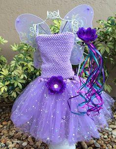 Fairy Tutu Set Princess Tutu Set Purple Tutu by partiesandfun, $33.00