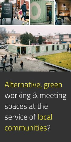 A symbol of local resilience, a hybrid space for working, meeting, and staying active. A physical space to host creatives and social innovators. This living lab, as they call it, is meant to develop continuously by listening to atypical entrepreneurs' needs - the community's creative breath. Instead of building the spaces conventionally, they use shipping containers and a community garden. #NewEuropeanBauhaus #EuropeForCulture #EUGreenDeal #Cohesion 📸 building.a.community / © N. Tako