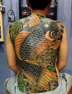Asian Tattoos, Back Tattoos, Tribal Tattoos, Cool Tattoos, Carp Tattoo, Koi Fish Tattoo, Japan Tatoo, Fist Tattoo, Tatoo Styles