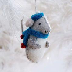 Felt Boy Mouse Ornament | west elm