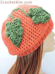 CrochetKim Free Crochet Pattern   A Little Bit Slouchie Pumpkin Hat