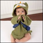 """My Little Night Owl"" Hooded Terry Spa Robe (Green) 33.95"