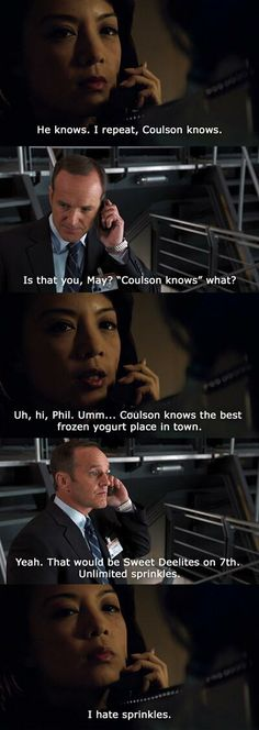 AGENT COULSON AND AGENT MAY