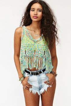 Crocheted top, OMG