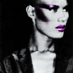 Grace Jones: High Check bones. Photoshop Black and White Picture