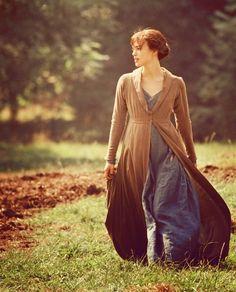 "Keira Knightley as Elizabeth Bennet in ""Pride & Prejudice"" (2005)."