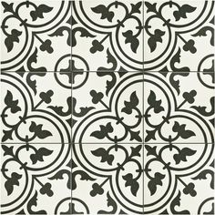 SomerTile 9.5x9.5-inch Art White Porcelain Floor and Wall Tile (Case of 16)