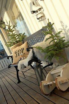 God Jul Christmas porch
