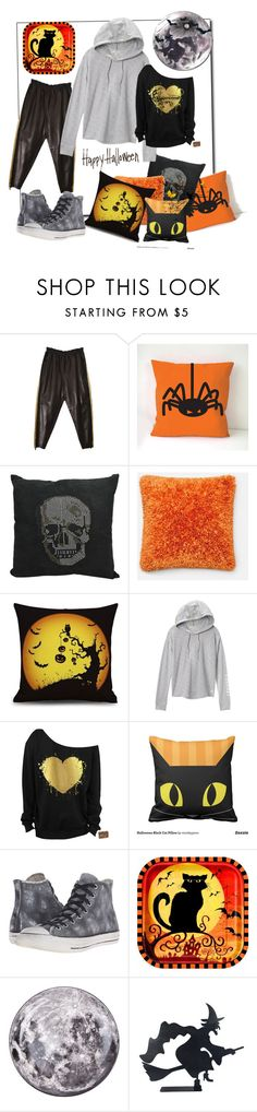 """""""Happy Halloween"""" by amaiba ❤ liked on Polyvore featuring Emilio Pucci, Loloi Rugs, Victoria's Secret, Converse and Seletti"""