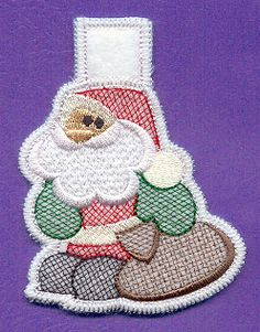 Santa Claus Wäscheklammer Cozy (In-the-Hoop)
