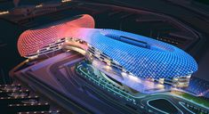 Amazing luxury hotel and  Forumula 1 track - The YAS Hotel in Abu Dhabi