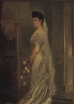 Sisi wearing an evening gown Empress Elisabeth of Austria (due to the movie also known now as Sissi, 1837-1898)