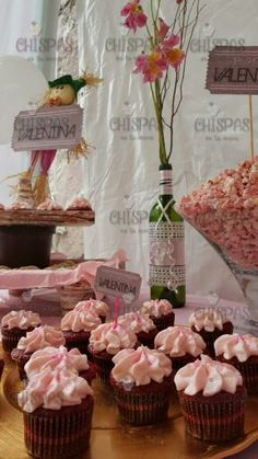 cupcakes y palomitas de frambuesa
