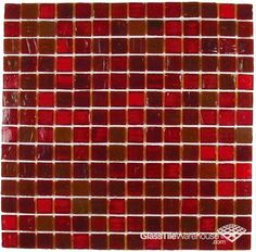 Glass Tile Backsplash Red Would Be Amazing