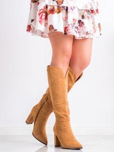 Semišové čižmy do špičky Riding Boots, Knee Boots, Booty, Ankle, Shoes, Fashion, Horse Riding Boots, Moda, Swag