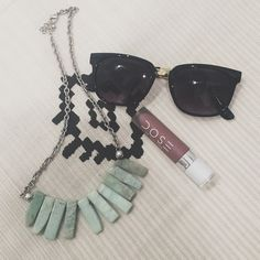 Black and gold stunner shades Really cute statement sunnies! Worn one time. Brand marked for exposure Nasty Gal Accessories Sunglasses