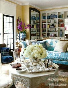 Decorating With Yellow Walls - laurel home | Windsor Smith beauty | one of my favorite living rooms ever!