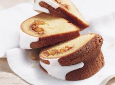 Surprise!  There's a fantastic fruity filling hiding in this rich coffee cake.